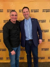 Ed Cash and the President of the International Association of Fire Fighters (IAFF) Ed Kelly, 2020
