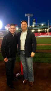Frontier Security President Ed Cash with Boston Mayor Marty Walsh at Fenway Park, 2018 U.S Conference of Mayors Annual Conference